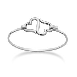 James Avery Sterling Silver Heart To Heart Bangle
